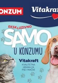 KONZUM - VITAKRAFT - KVALITETNA HRANA ZA PSE I MAČKE! Akcija sniženja do 28.02.2021.