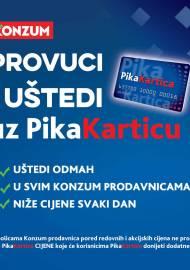 KONZUM - KATALOG - PROVUCI I UŠTEDI UZ PIKA KARTICU - Akcija sniženja do 31.03.2021
